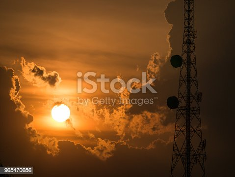 1169777785istockphoto Cell Site behind The Sun 965470656