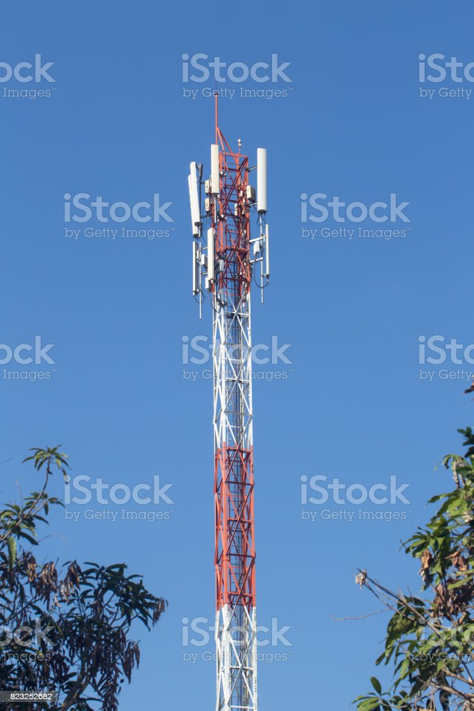Cell Site Telecommunications Radio Tower Or Mobile Phone
