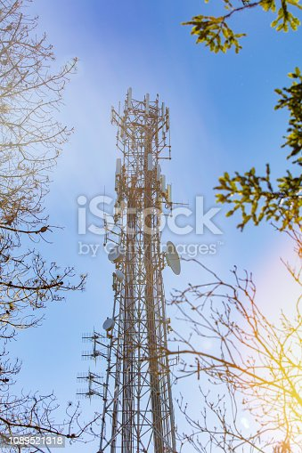 1145453438istockphoto Cell Tower: 5G 4G communications tower for mobile phone and video data transmission 1089521318