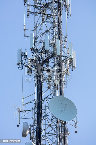 1145453438istockphoto Cell Tower: 5G 4G communications tower for mobile phone and video data transmission 1089522588