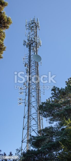 1145453438istockphoto Cell Tower: 5G 4G communications tower for mobile phone and video data transmission 1089524752