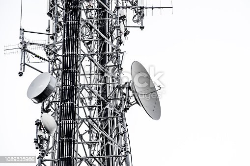 1169777785istockphoto Cell Tower: 5G 4G communications tower for mobile phone and video data transmission 1089535986