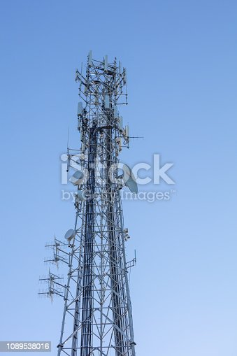 1145453438istockphoto Cell Tower: 5G 4G communications tower for mobile phone and video data transmission 1089538016