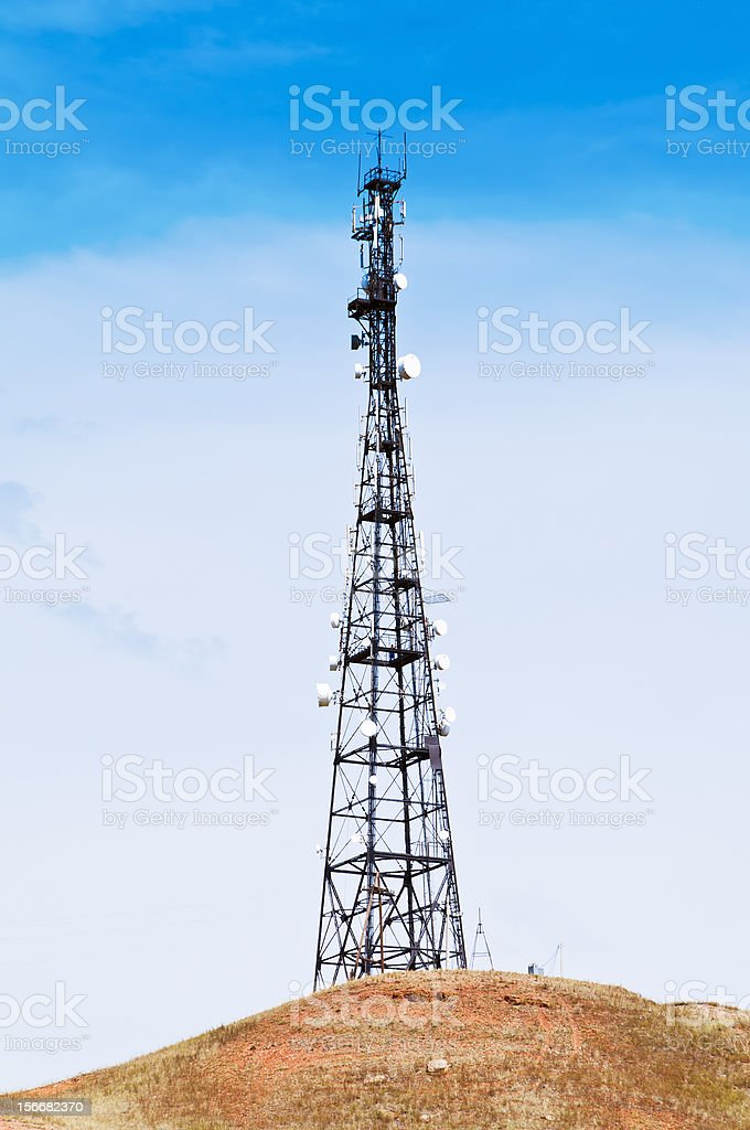 Cell tower royalty-free stock photo