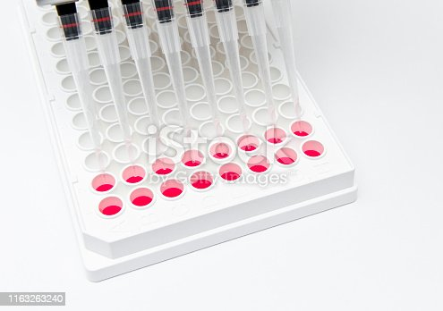 In vitro celluar assay using 96 well microplate and muti-channel pipette, serum