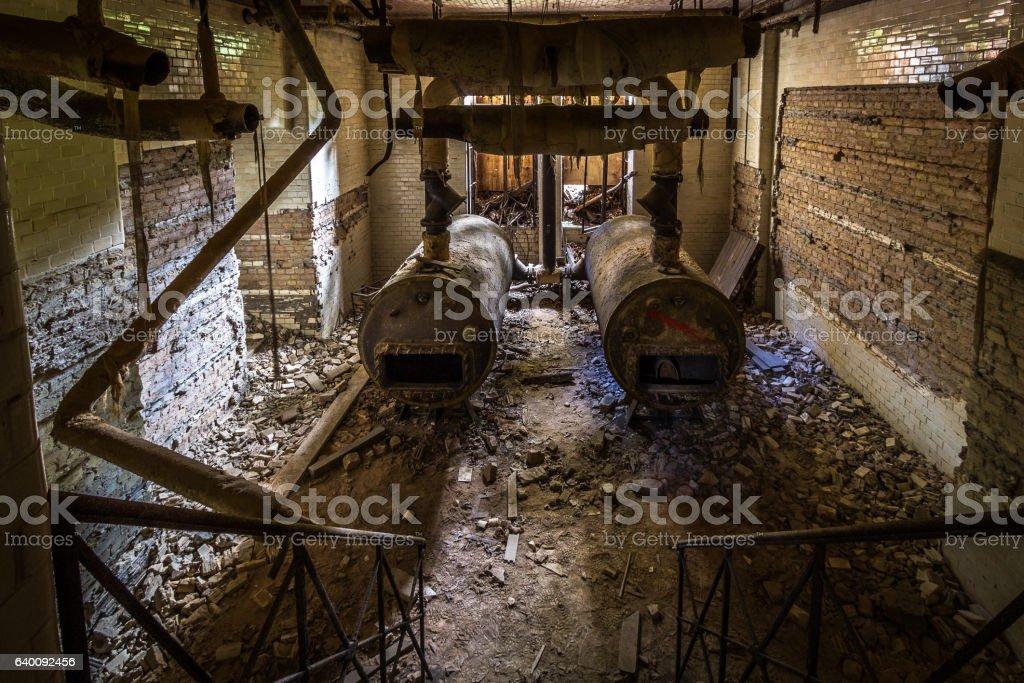 Cellar at the Beelitz heal clinics stock photo