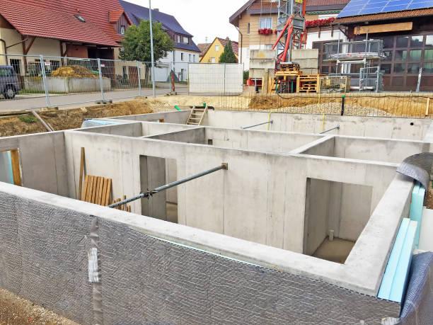 Keller von einem neuen Haus – Foto