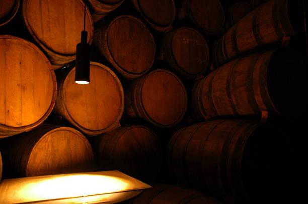 tonel wine cellar - weinkeller bauen stock-fotos und bilder