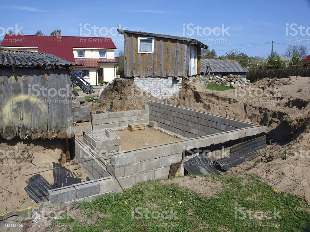 Cellar under construction royalty-free stock photo