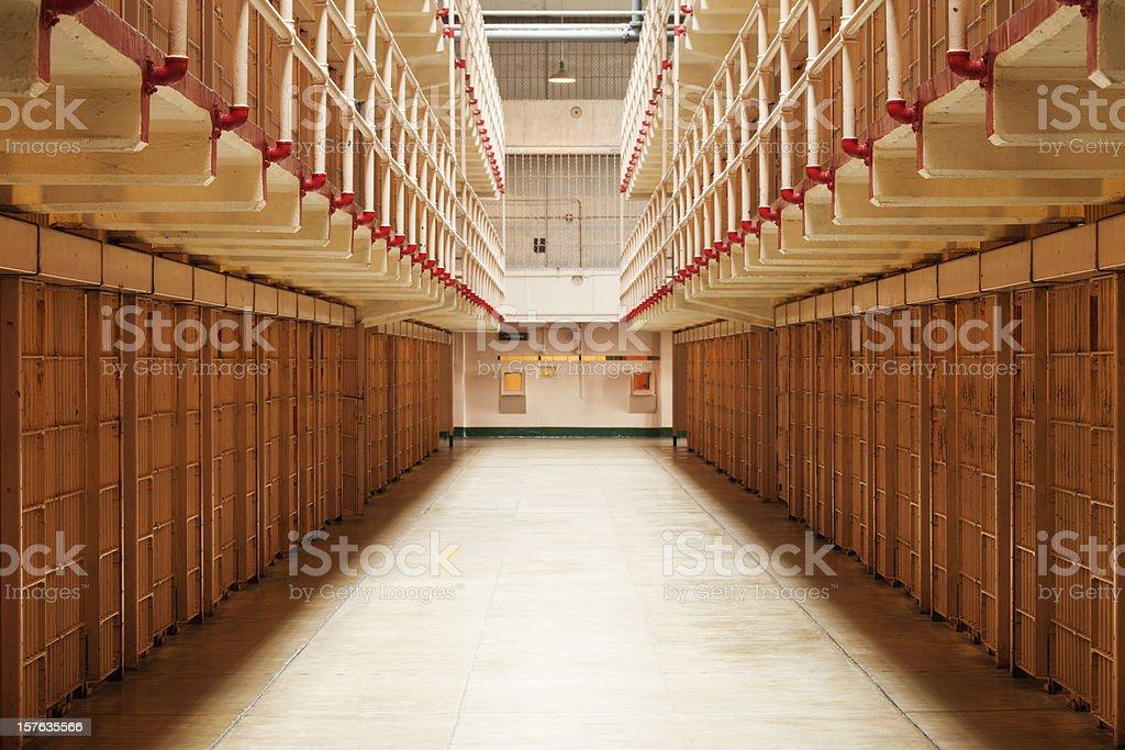 Cellhouse, Alcatraz stock photo