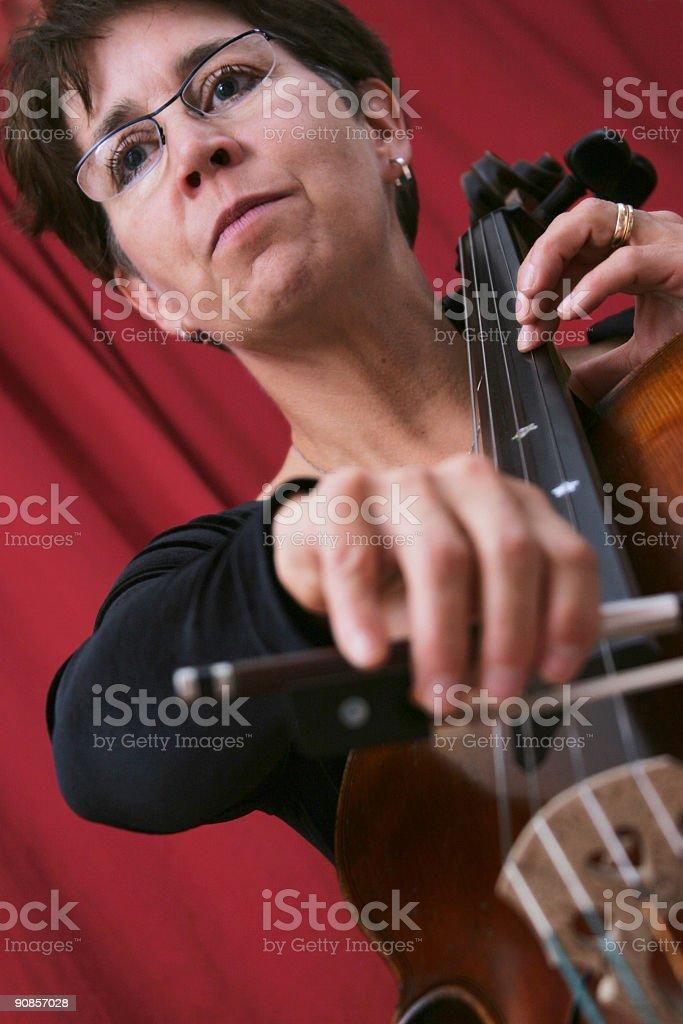 Cellist Series royalty-free stock photo