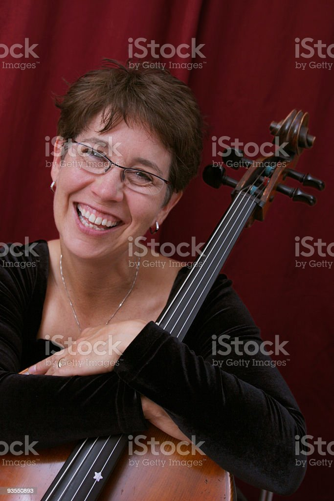 Cellist Series royalty-free stock photo