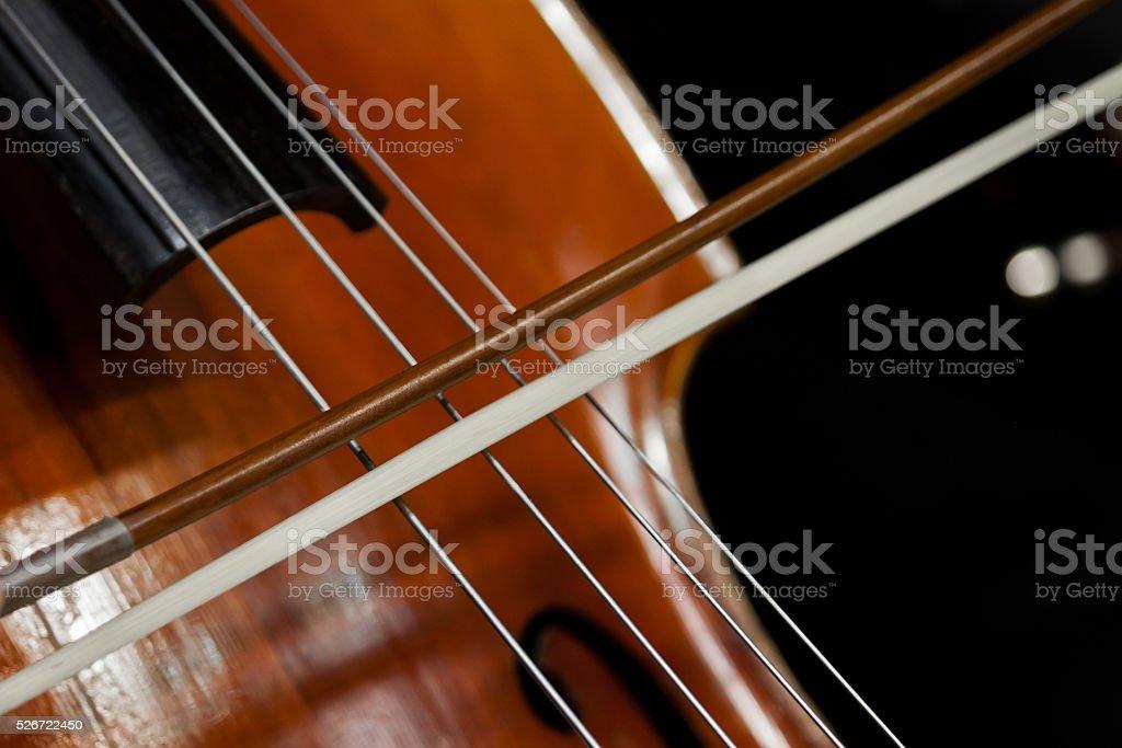 Cello Detail stock photo