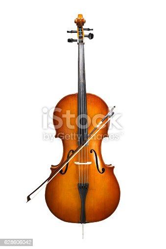 istock cello isolated on wihte 628606042