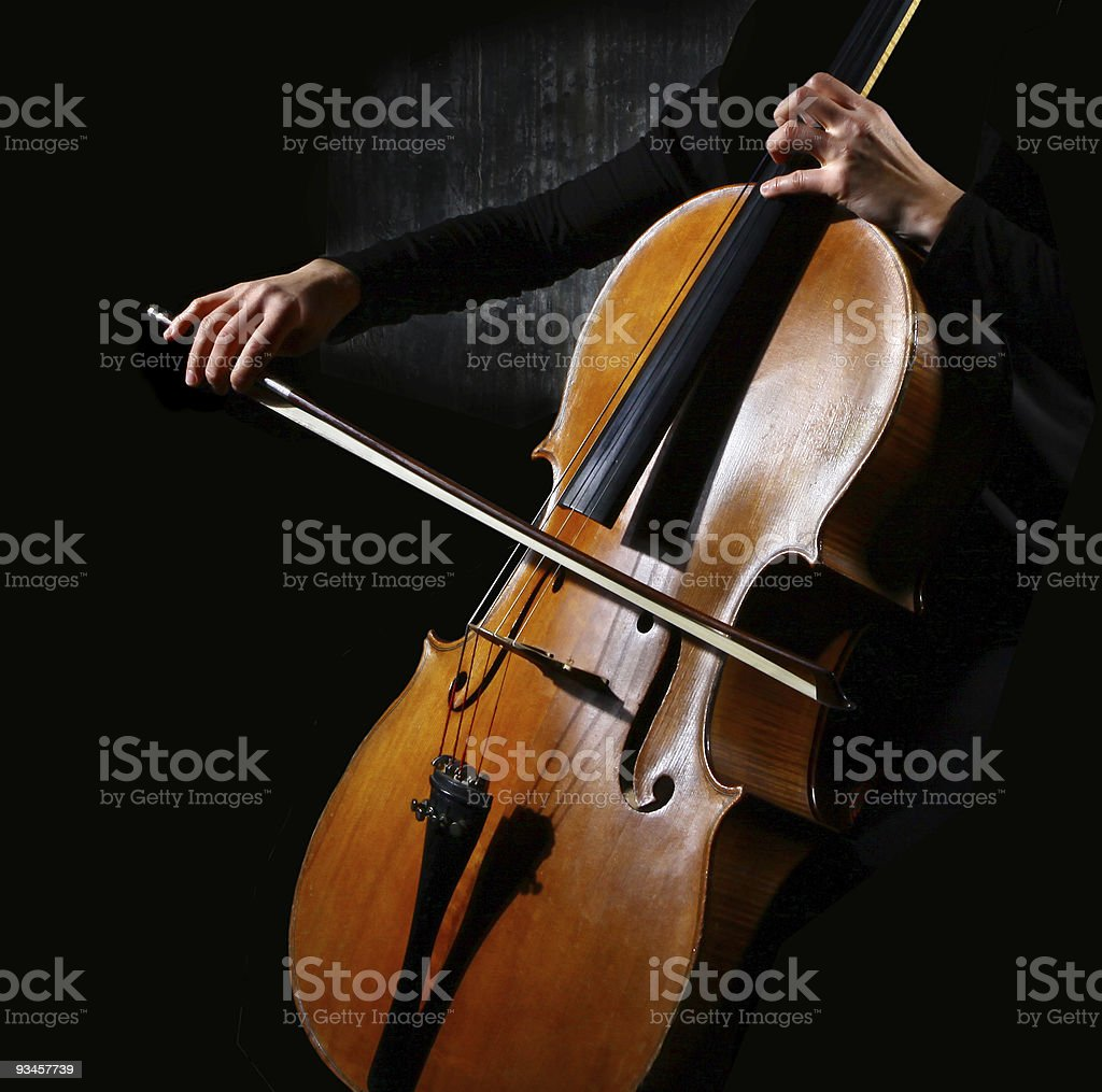 Cello musician stock photo