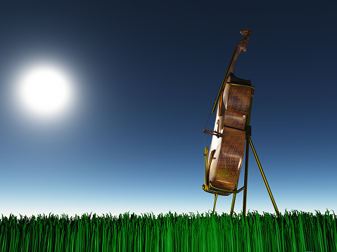 istock Cello on grass 1138246996