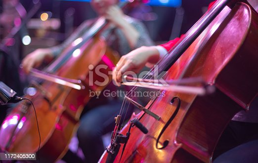 cello at a concert
