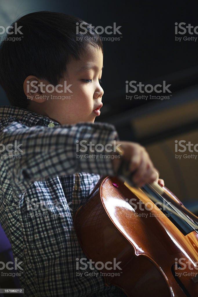 Cello Practice royalty-free stock photo