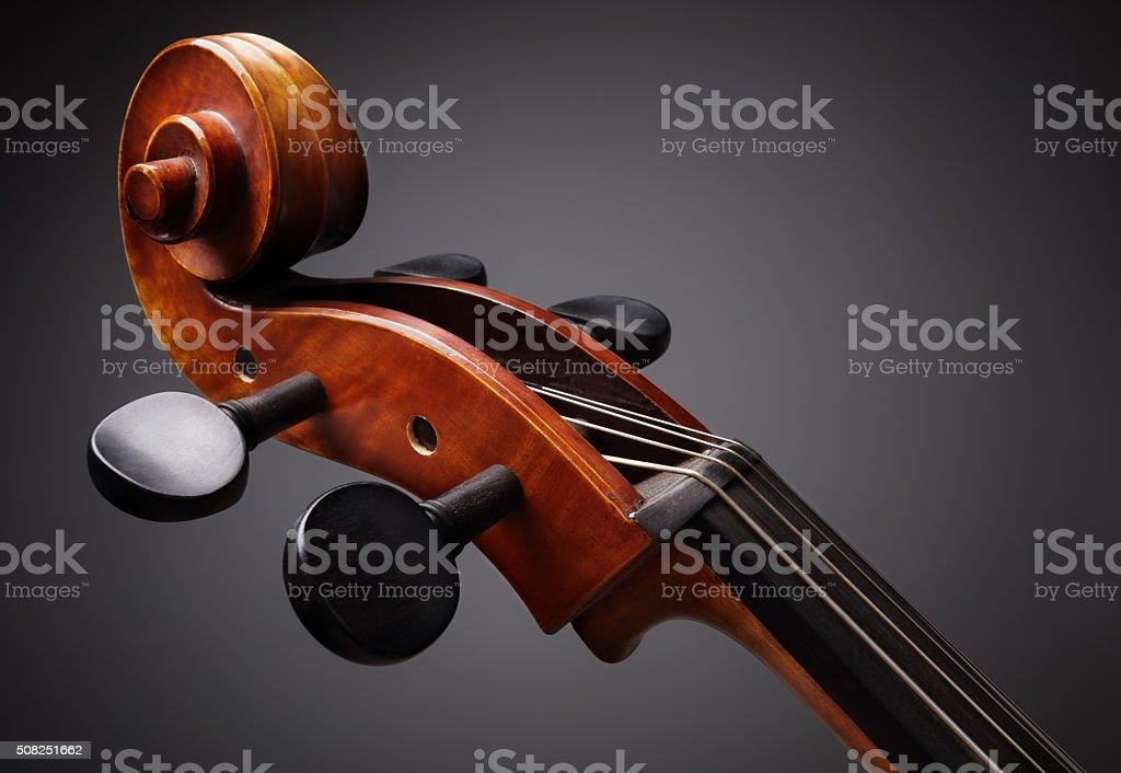 Cello scroll stock photo