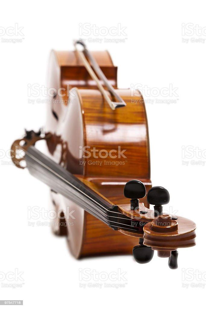 Violoncelle, peu profond DOF photo libre de droits