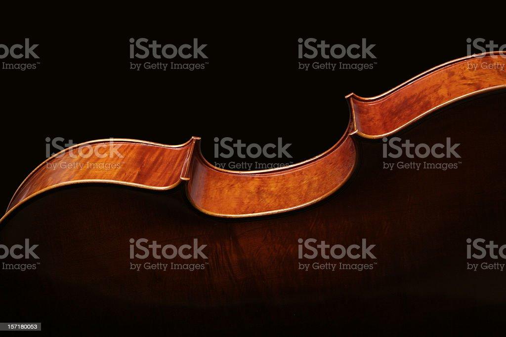 Cello silhouette - horizontal royalty-free stock photo
