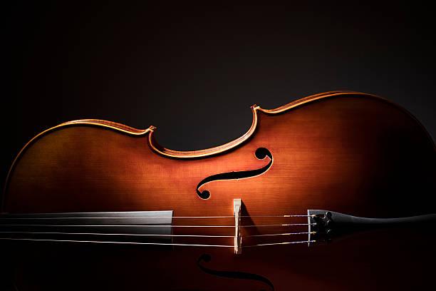 wiolonczela sylwetka - instrument muzyczny zdjęcia i obrazy z banku zdjęć