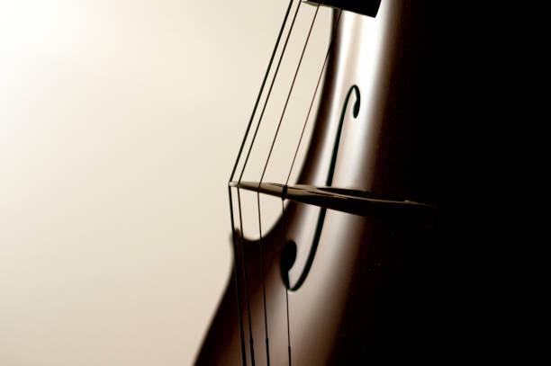 cordes violoncelle - instrument de musique photos et images de collection