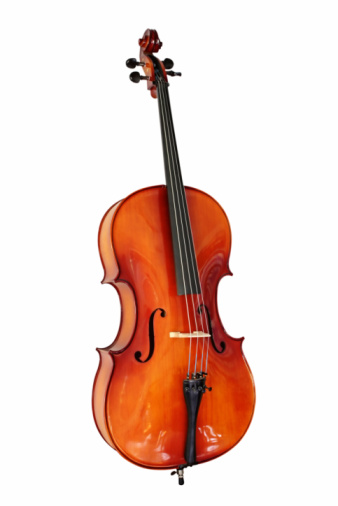 Cello With Clipping Path Stock Photo - Download Image Now
