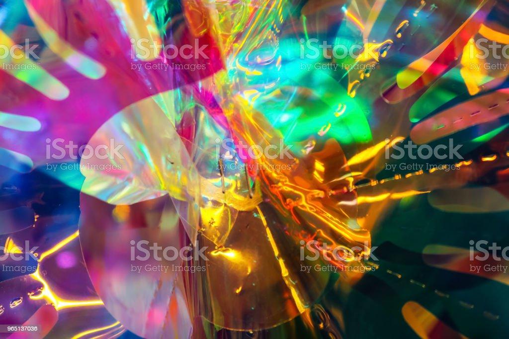 Cellophane and lights background One zbiór zdjęć royalty-free