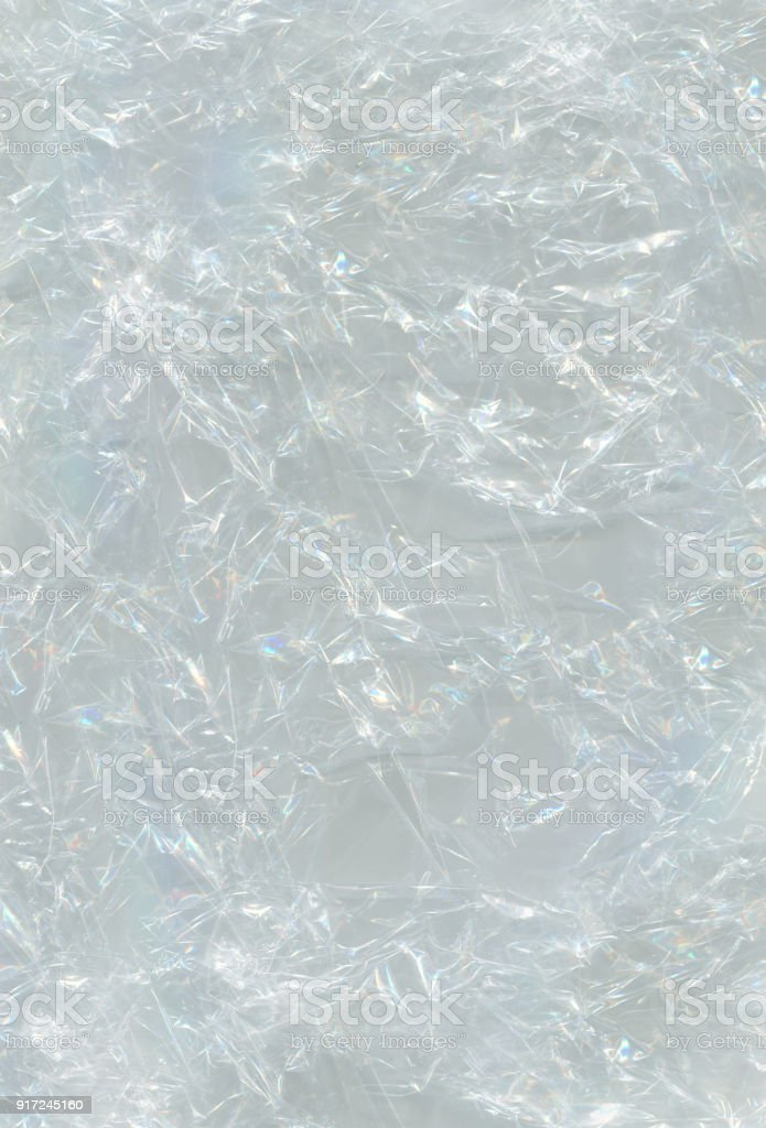 Cellophane as background.Wrapping plastic background stock photo