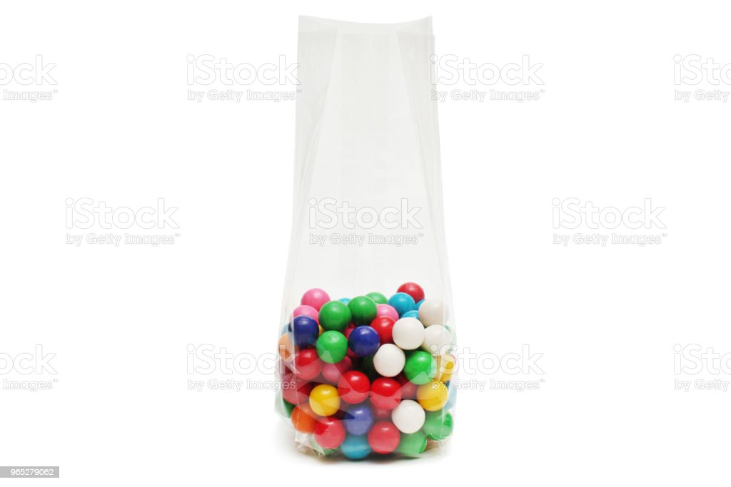 Cellophane bag for candy royalty-free stock photo