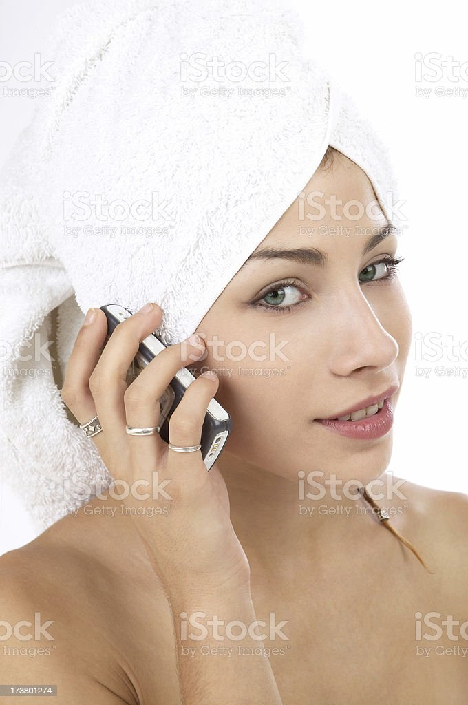 Cellphone  after  shower royalty-free stock photo