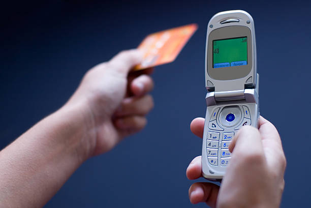 Cellphone and Credit Card stock photo