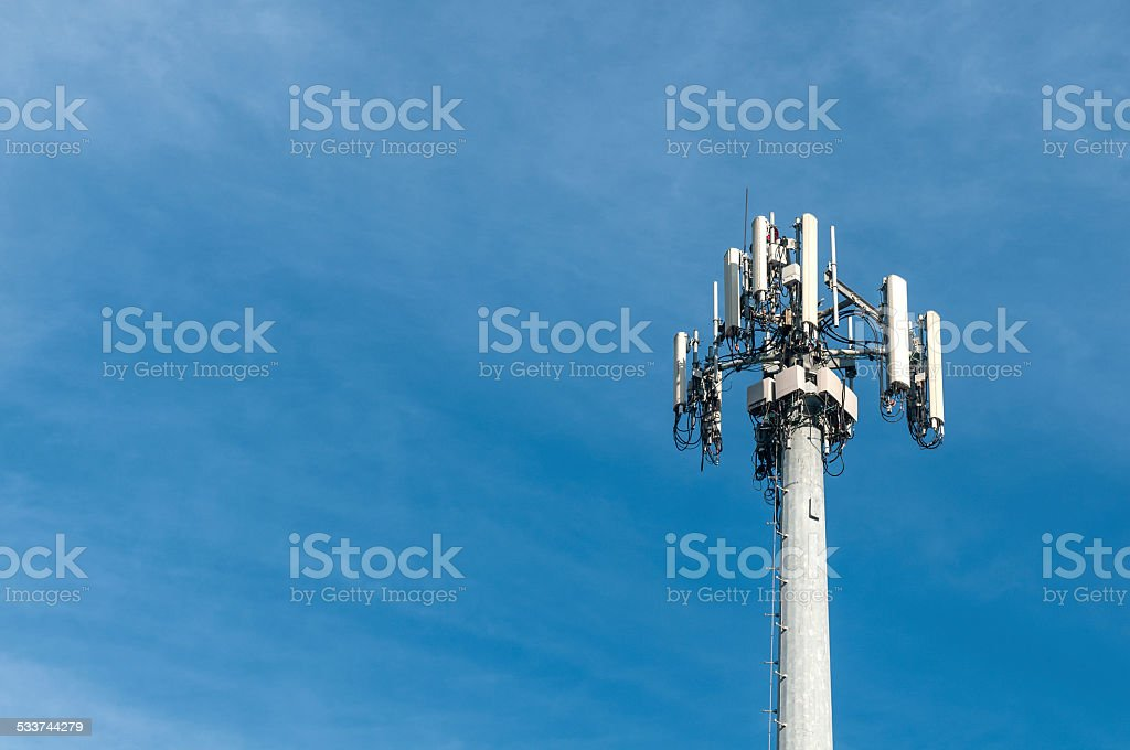 Cellphone antenna stock photo