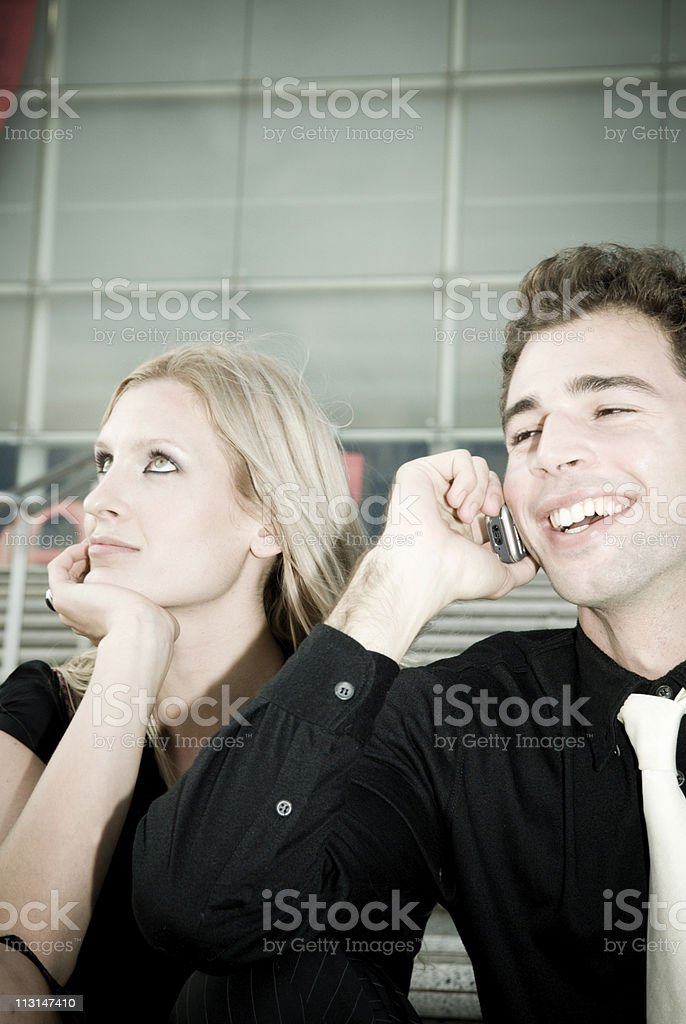 Cellphone Discussion royalty-free stock photo