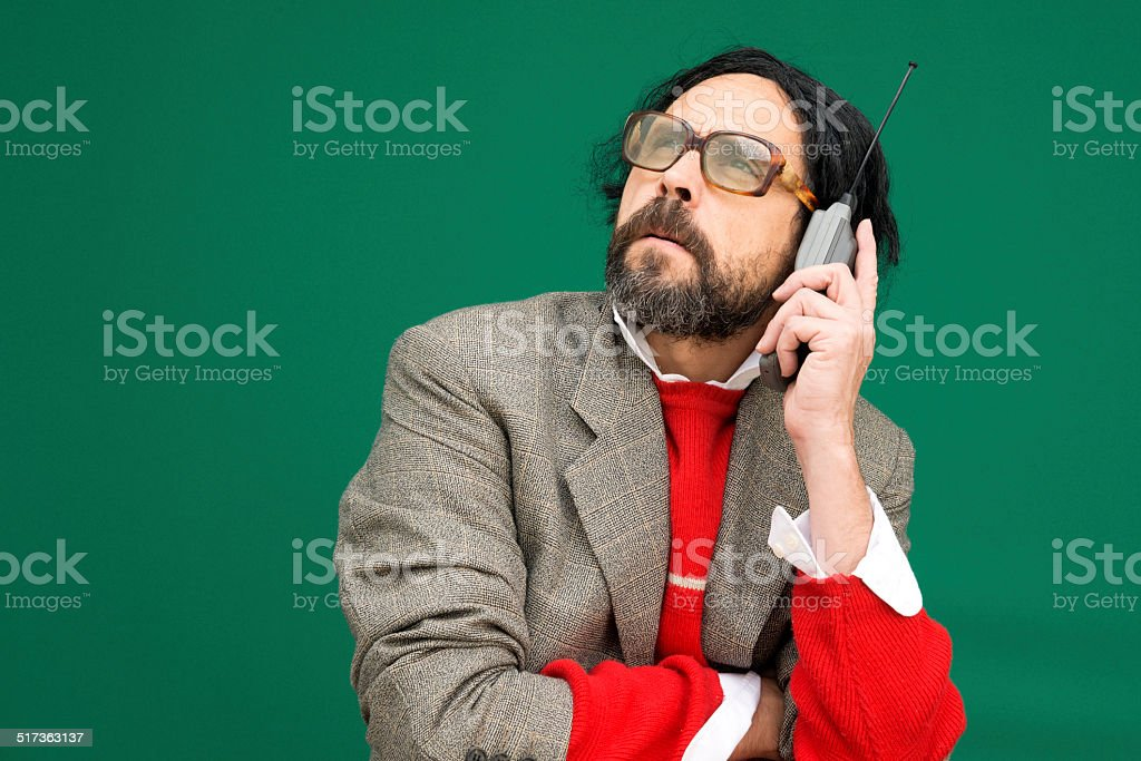 Cellphone tonto - foto de stock