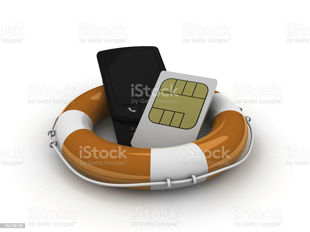 Cellphone help royalty-free stock photo
