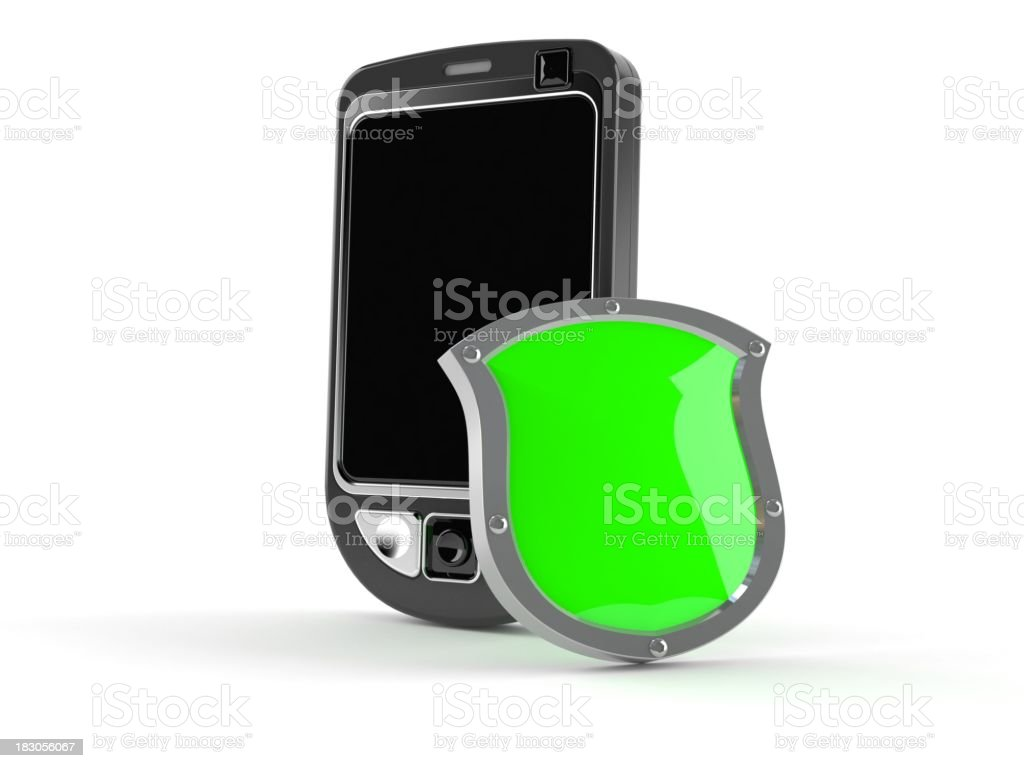 Cellphone protetcion royalty-free stock photo