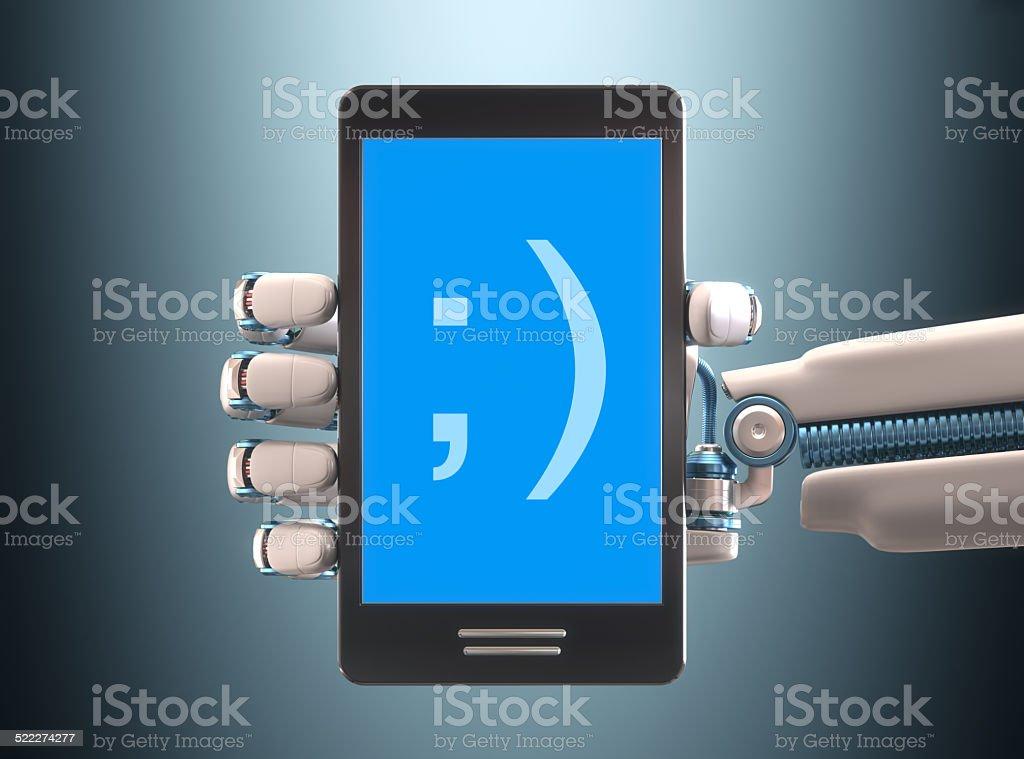 Cellphone Robot stock photo