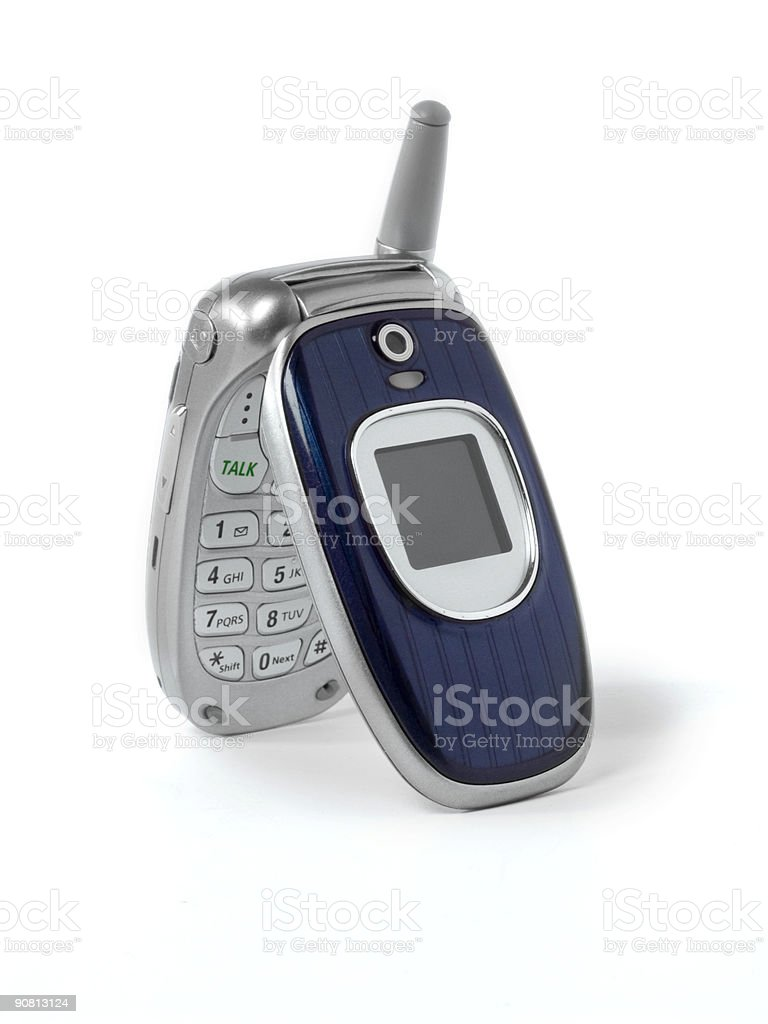 Cellphone sitting on end royalty-free stock photo