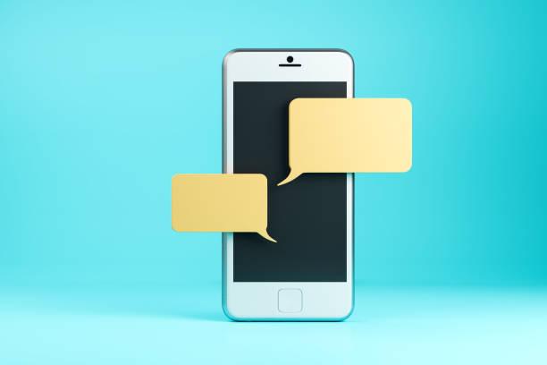 Handy mit leere Nachricht – Foto