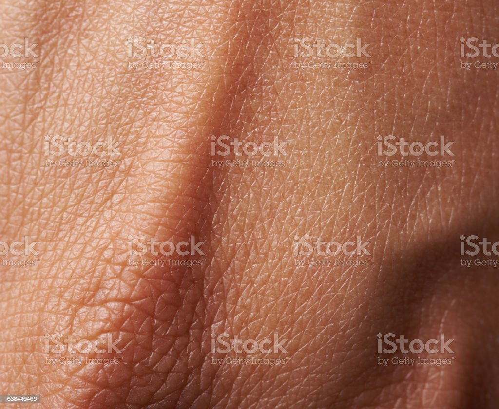 Cells on woman skin stock photo