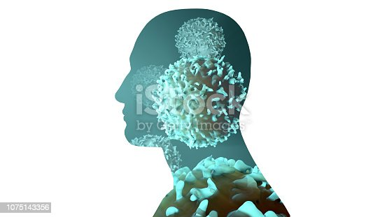 475709137 istock photo Cells or Cancer Cells Inside a body 1075143356