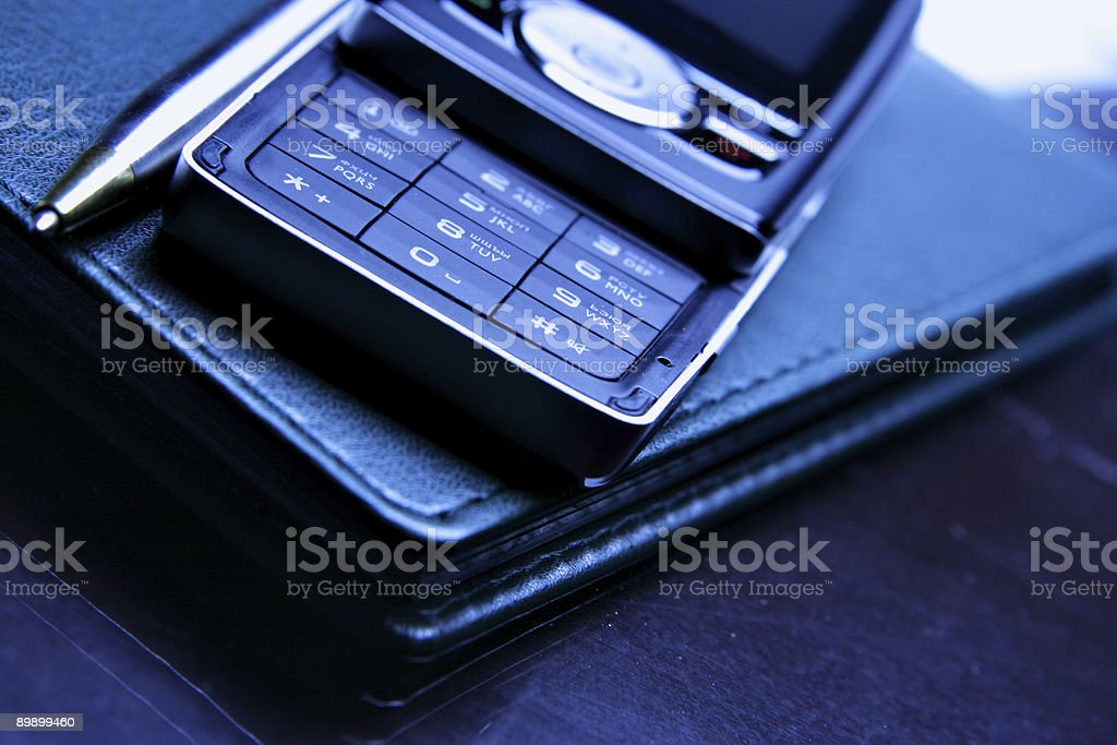 Cellular and organizer royalty-free stock photo