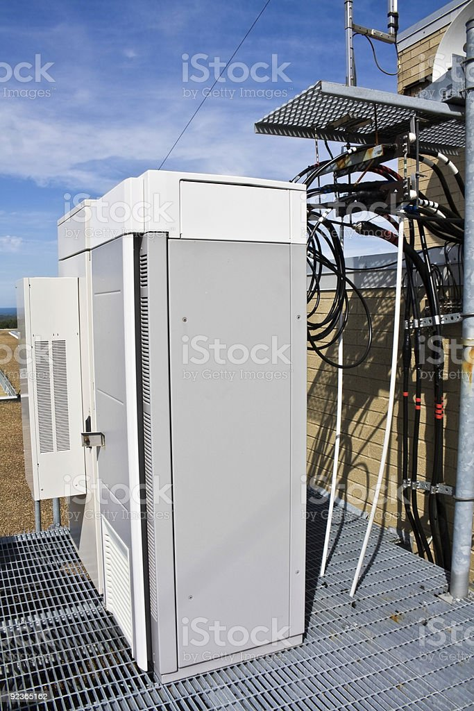 Cellular cabinets on the platform royalty-free stock photo