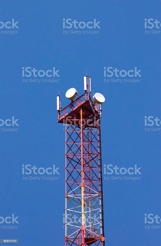 Cellular communication tower royalty-free stock photo