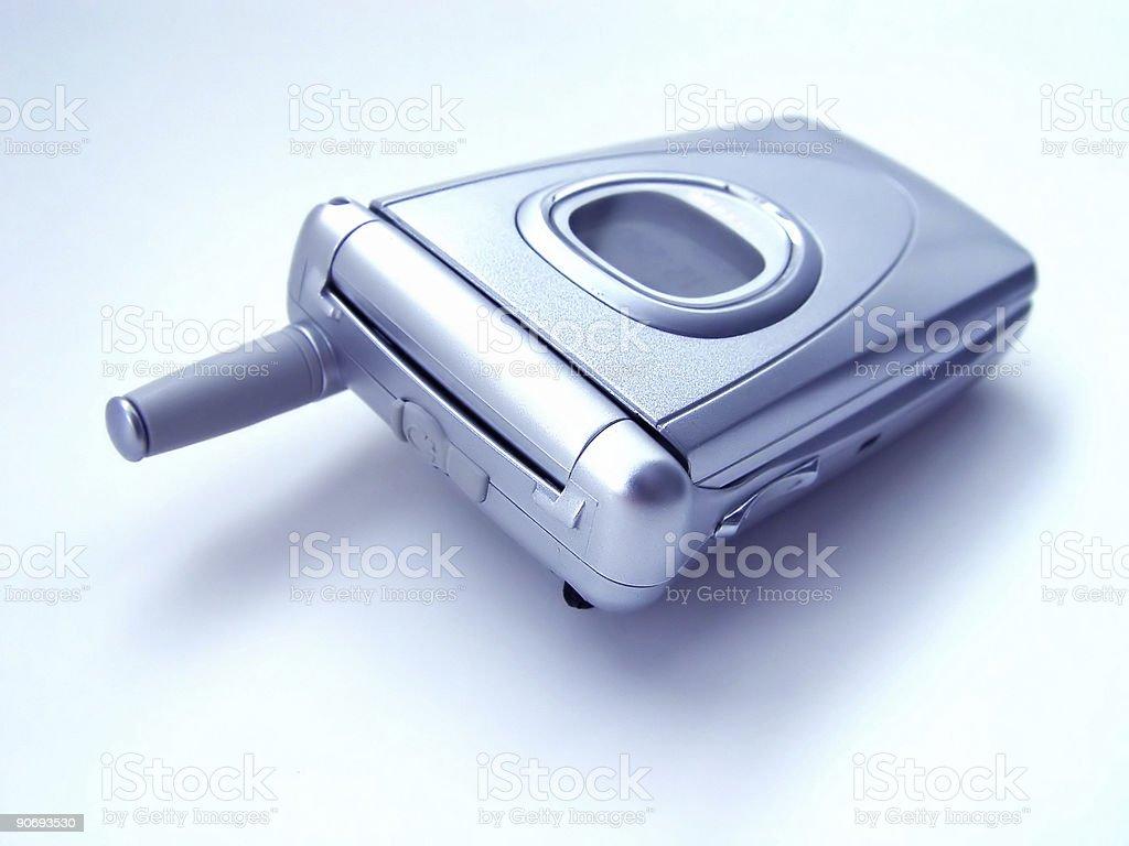 Cellular Flip Phone - Blue Tint royalty-free stock photo