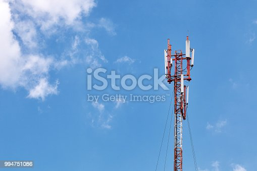 1169777785istockphoto Cellular phone antennas on a building roof 994751086