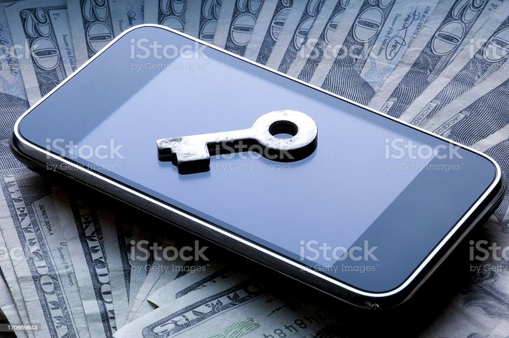 Cellular Security Costs Concept royalty-free stock photo