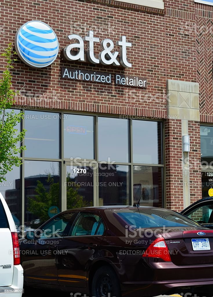 AT&T Cellular Store stock photo